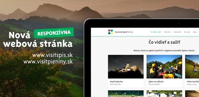 Nový a moderný web prezentuje región severného Spiša a Pienin