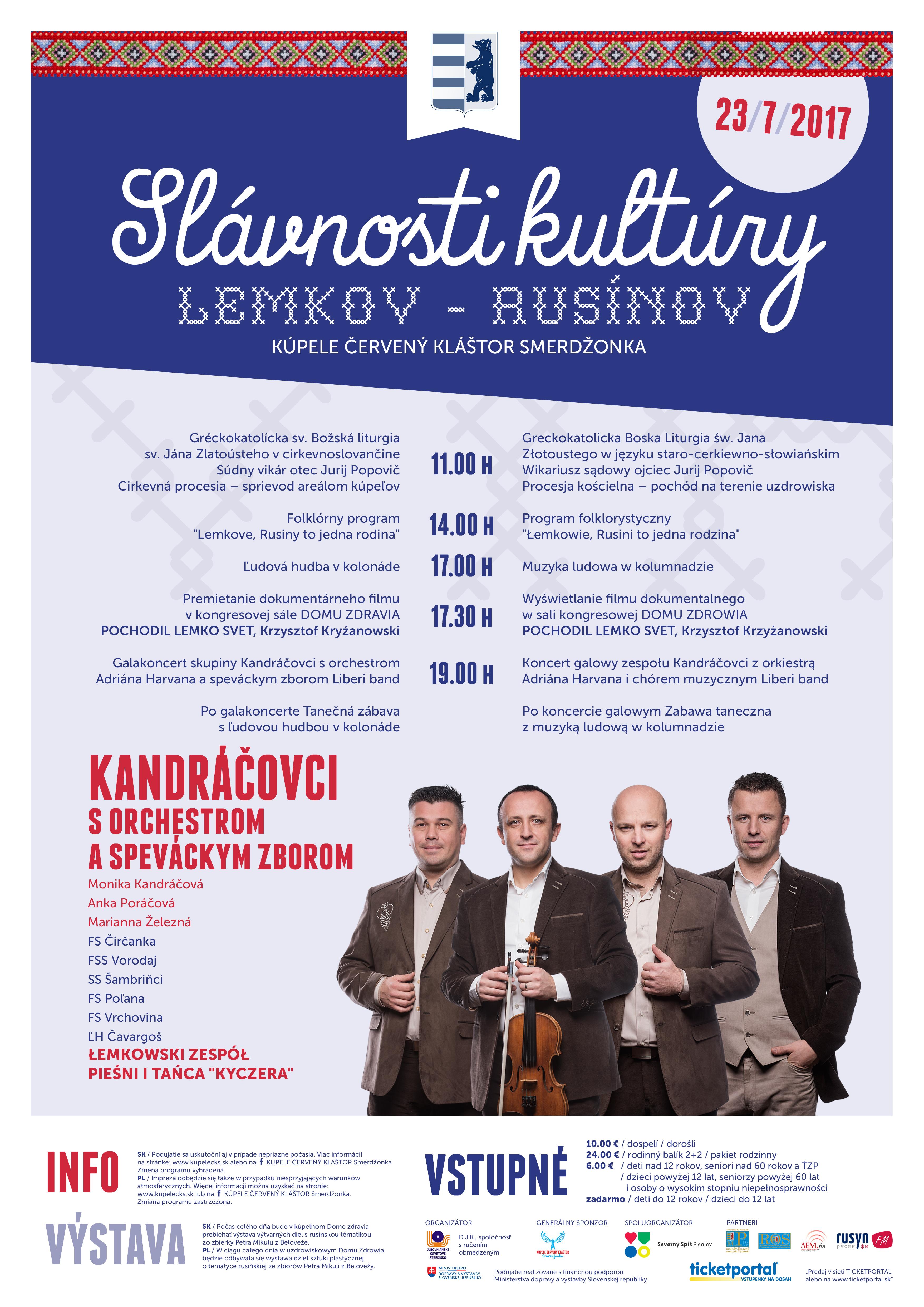 slavnosti kultury lemkov rusinov KCKS2017