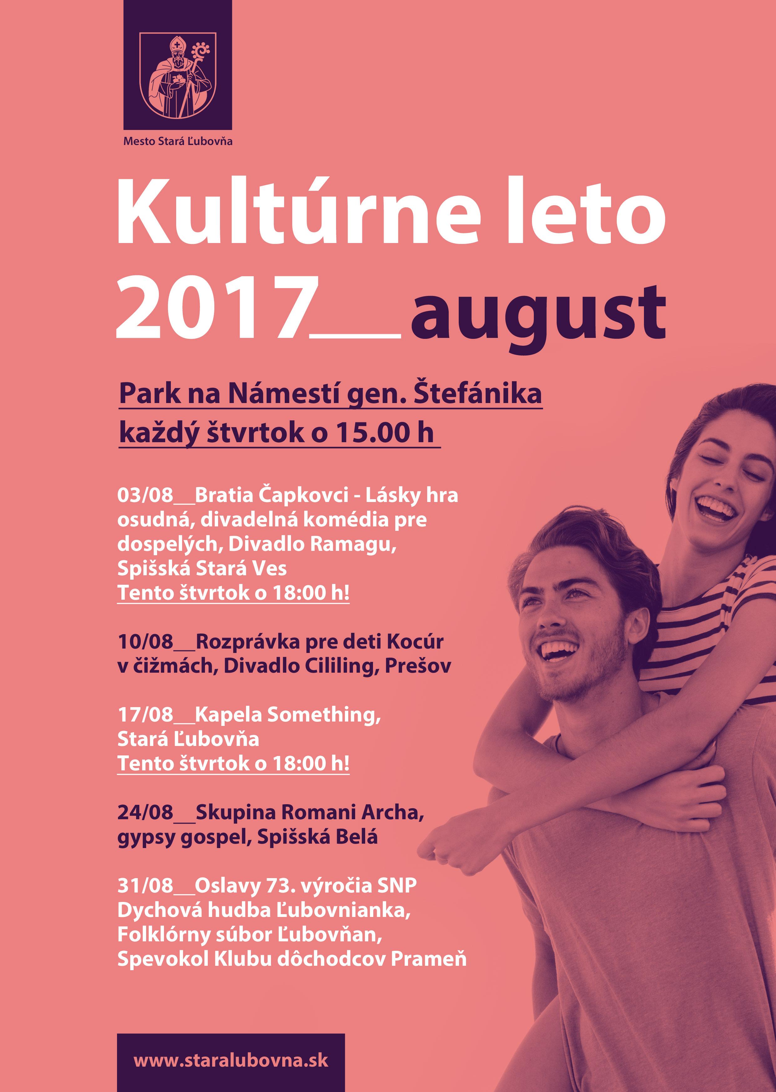 Kultúrne leto - august - web