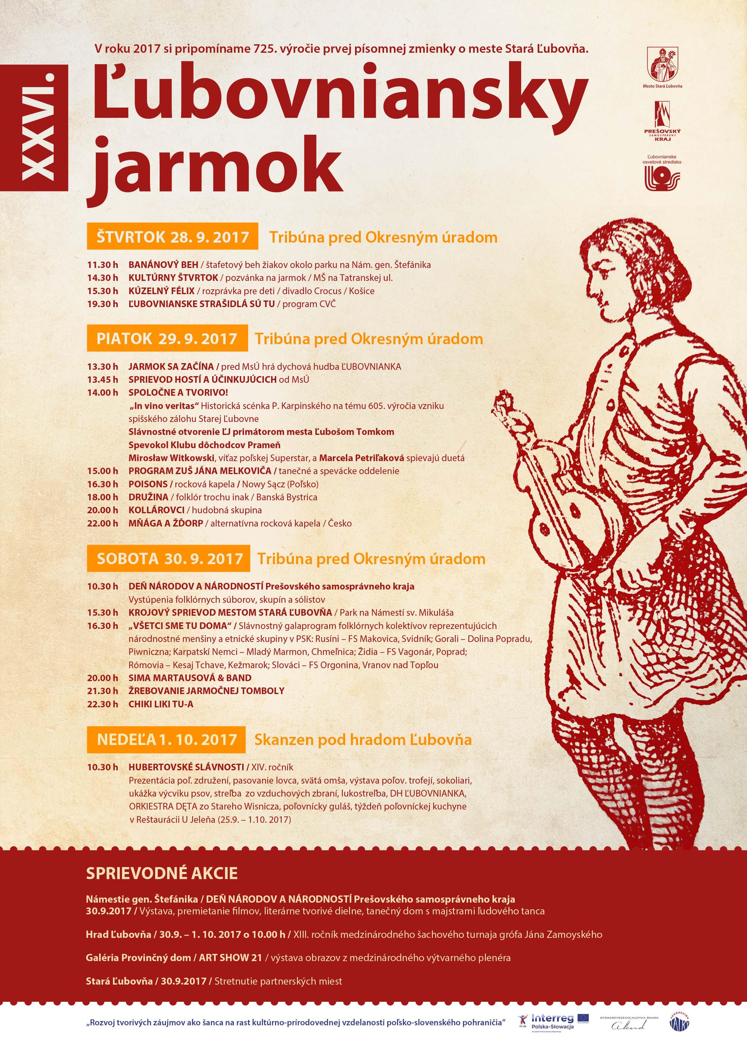 Ľubovnianský Jarmok 2017 - novy