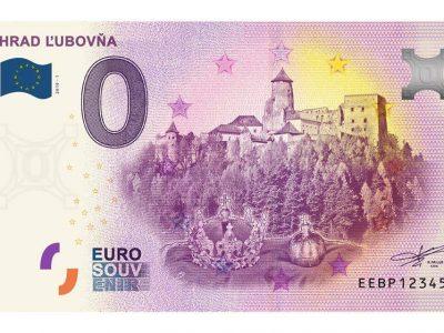 STAROBYLÝ HRAD ĽUBOVŇA NA NULOVEJ EUROBANKOVKE
